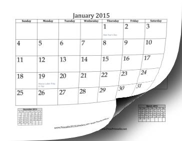 2015_Calendar_Mini_Month